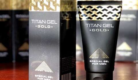 Упаковка и гель Titan Gel Gold для мужчин
